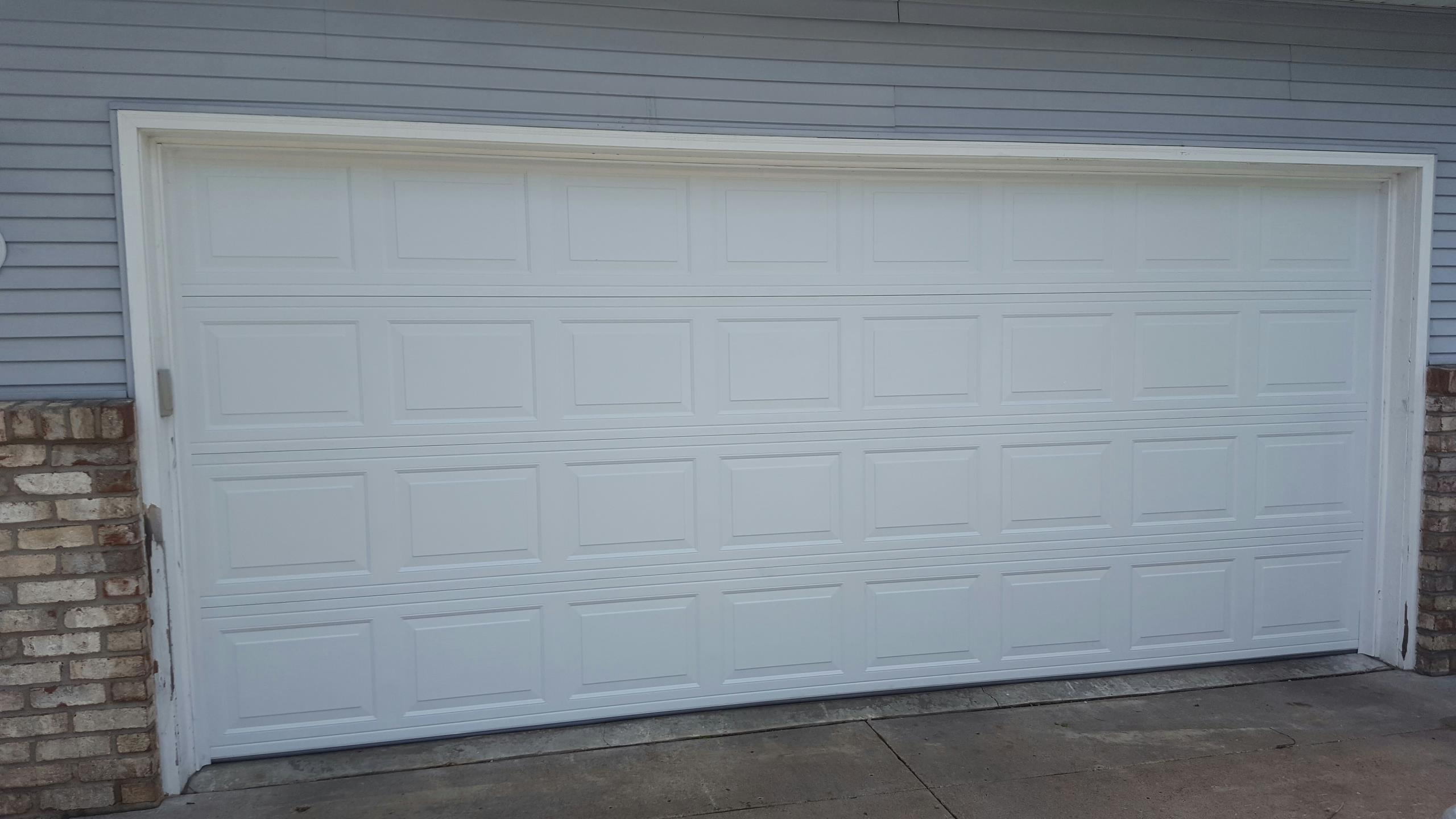 Little Canada, MN - Jeremy installed 16 by 7 garage door