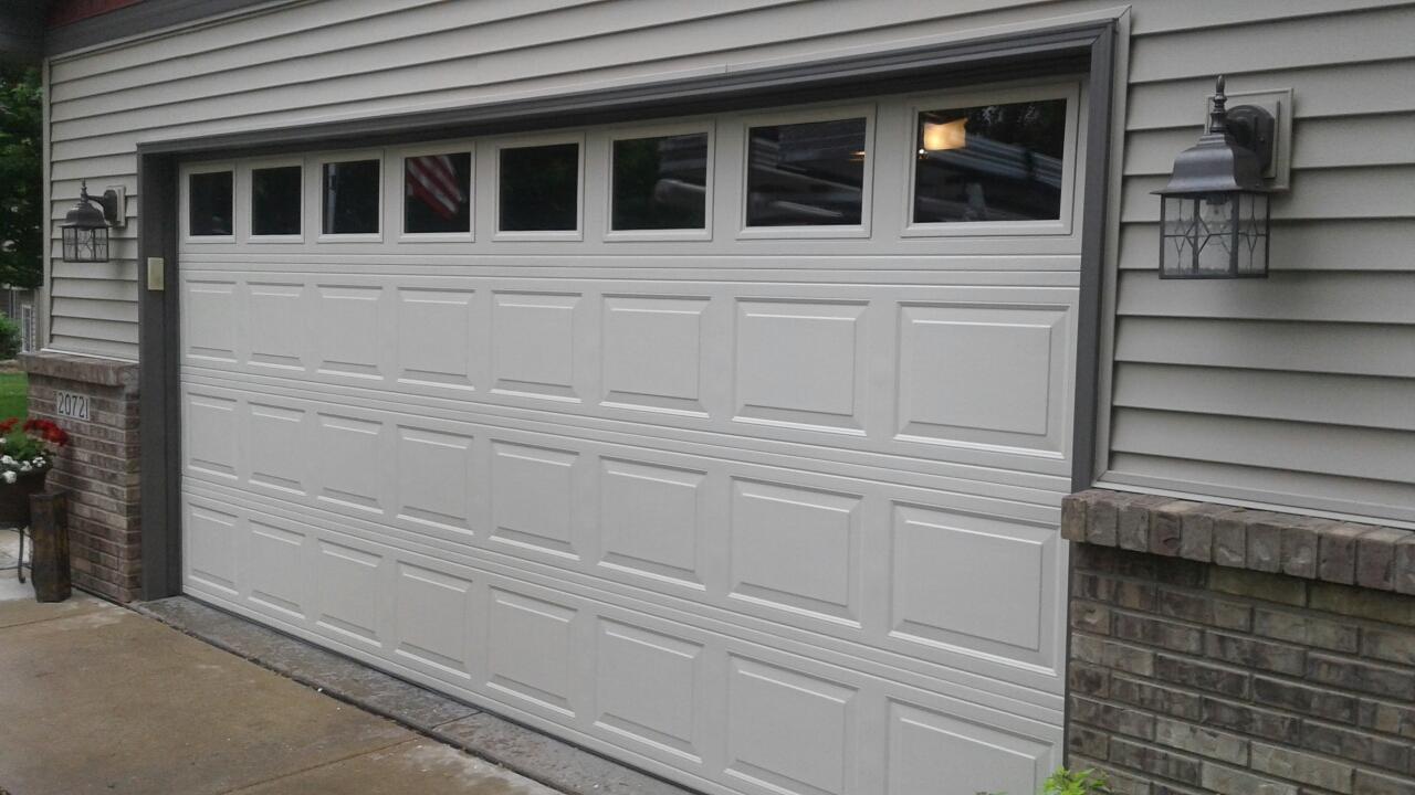 Forest Lake, MN - Jon installed North Central RP25 16x7 Garage Door