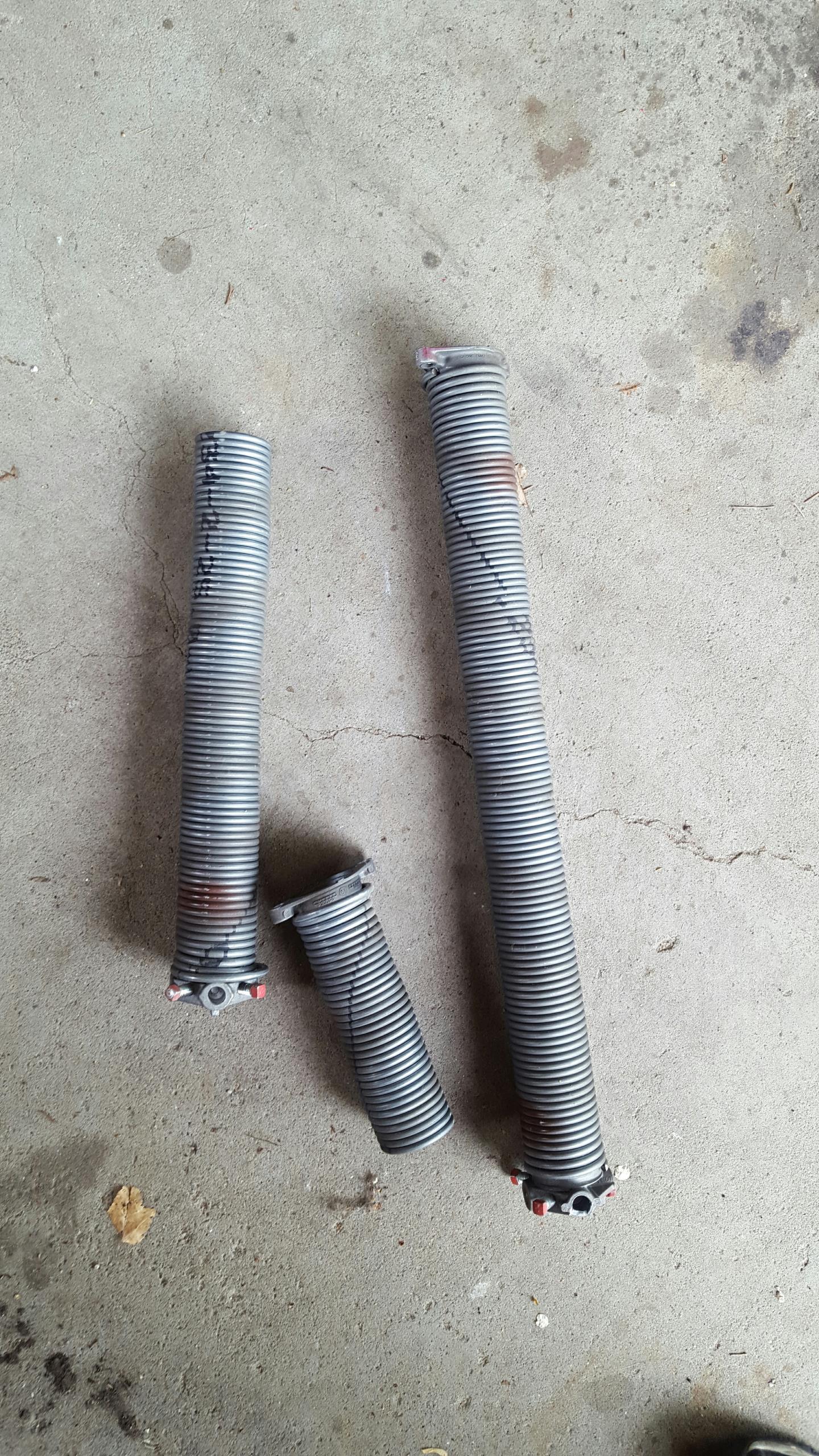 Circle Pines, MN - Replaced garage door springs