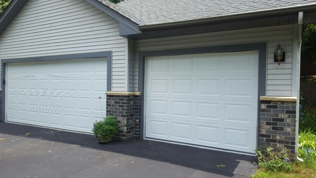 Mahtomedi, MN - Jeremy installed 16 by 7 and 9 by 7 garage door
