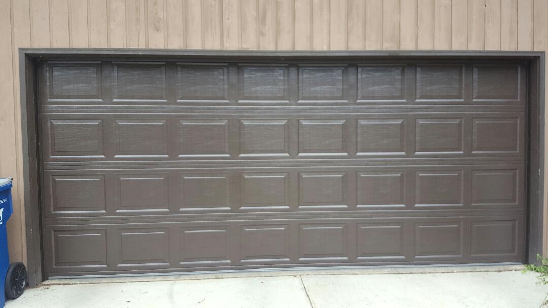 Lake Elmo, MN - Jeremy installed 16 by 7 garage door