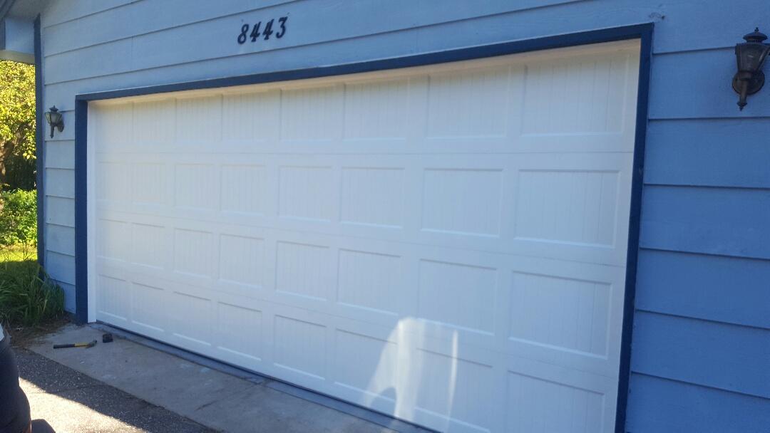 Mounds View, MN - Jeremy installed 16 by 7 garage door and liftmaster garage door opener