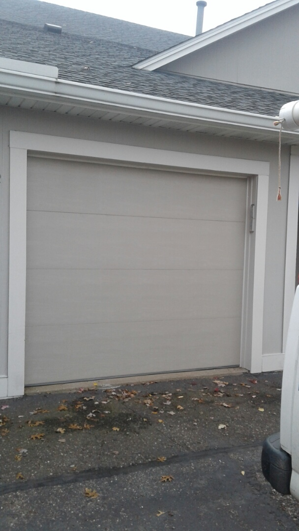 Spring Lake Park, MN - Jon installed North Central TF138 8x7 Garage Door