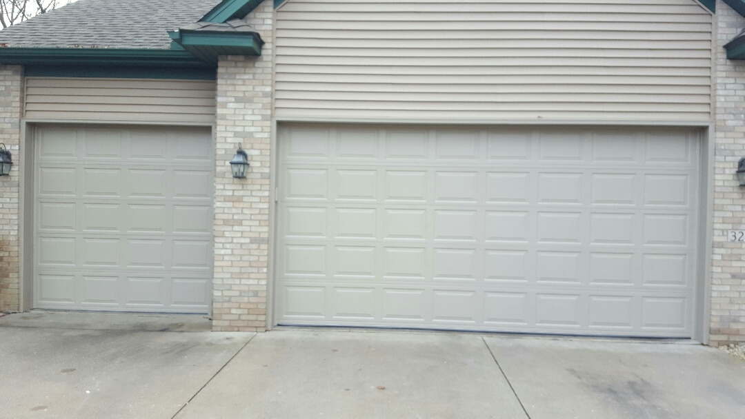 Lino Lakes, MN - Jeremy installed 16 by 8 and 8 by 8 garage doors
