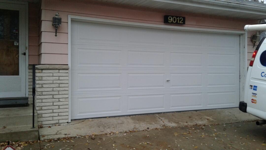 Saint Louis Park, MN - Jon installed North Central LP25 16x7 Garage Door