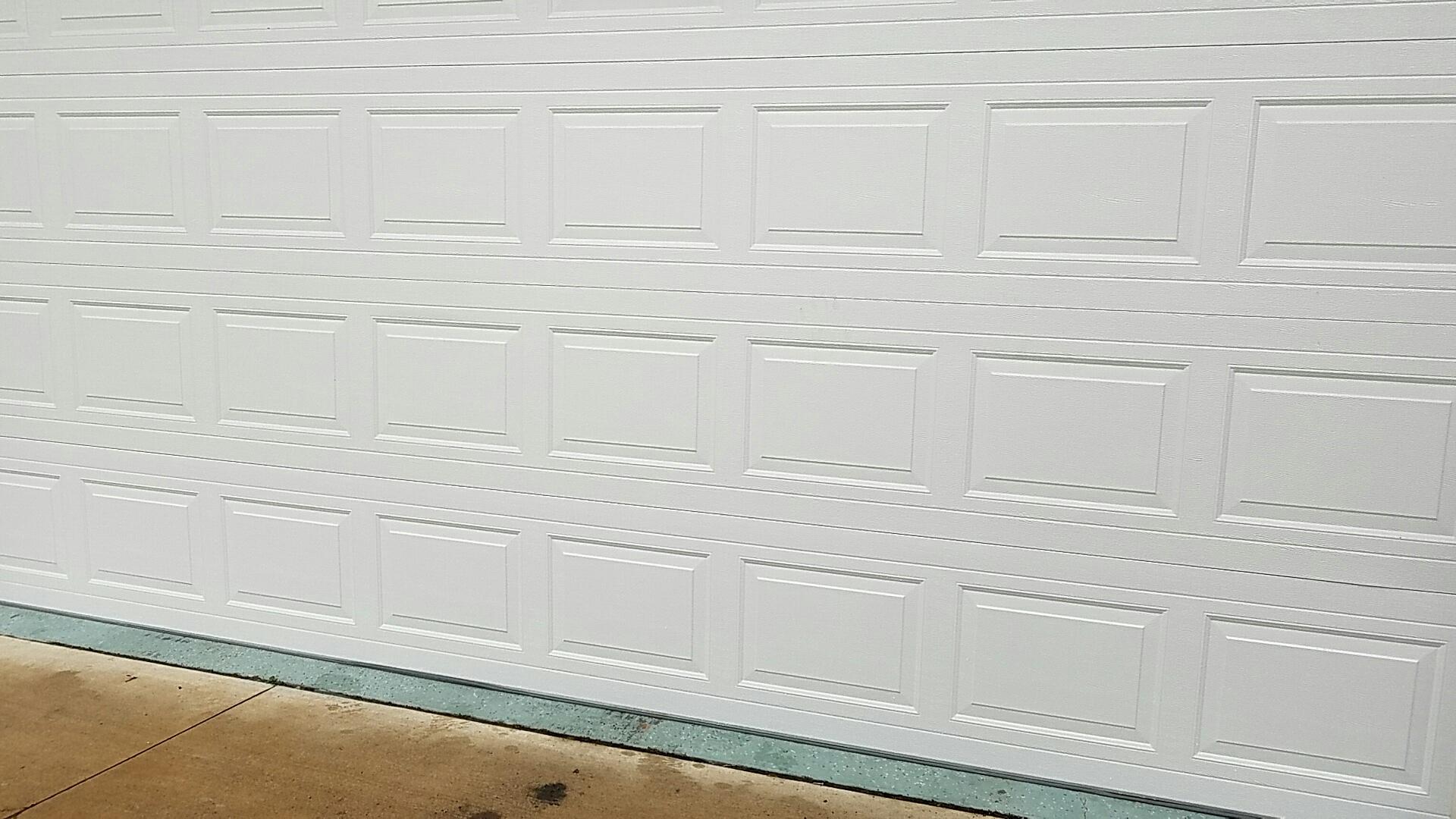 Hugo, MN - Replaced garage door section
