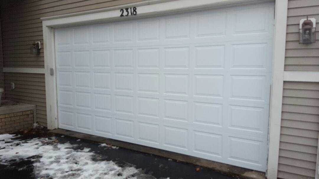 Blaine, MN - Jeremy installed 16 by 8 garage door
