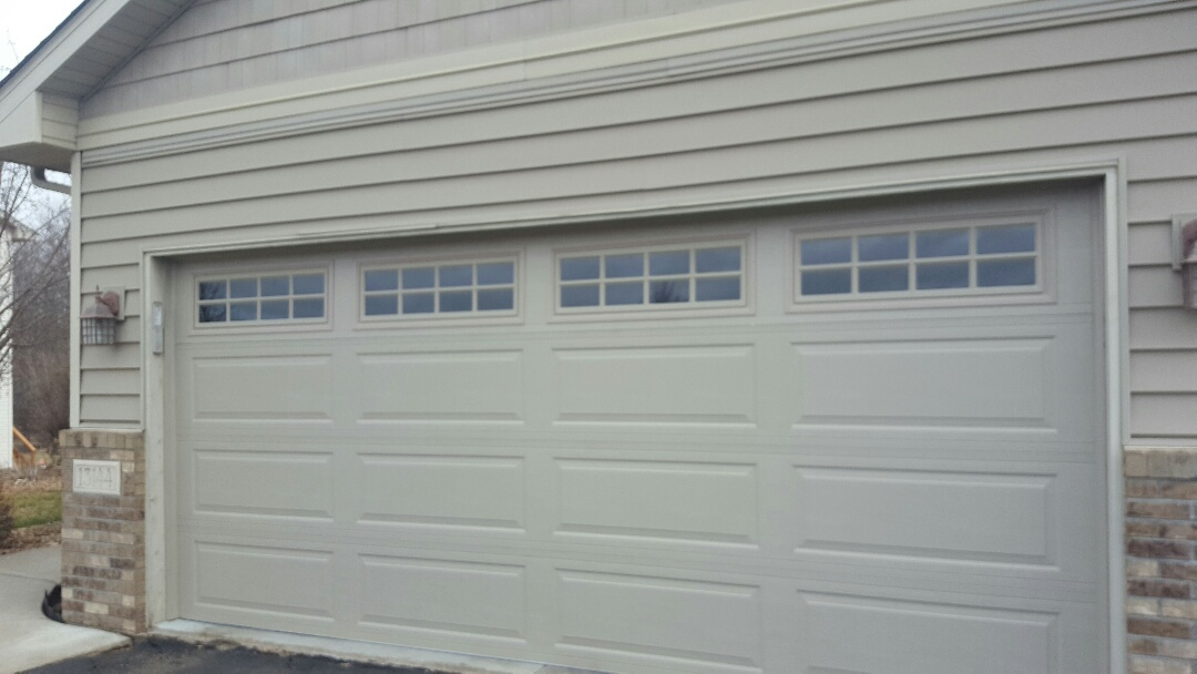 Rogers, MN - Jeremy installed 16 by 7 garage door
