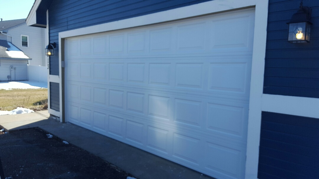 Brooklyn Park, MN - Jeremy installed 16 by 7 garage door and opener