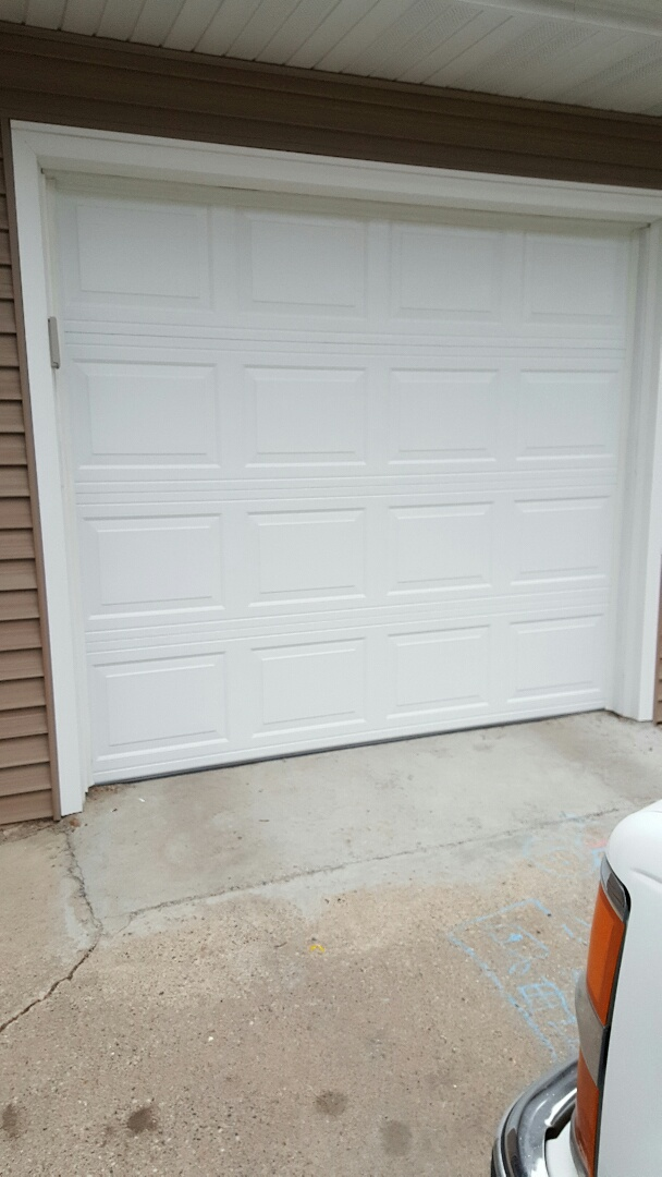 Roseville, MN - Rory installed a door and motor in Roseville, MN