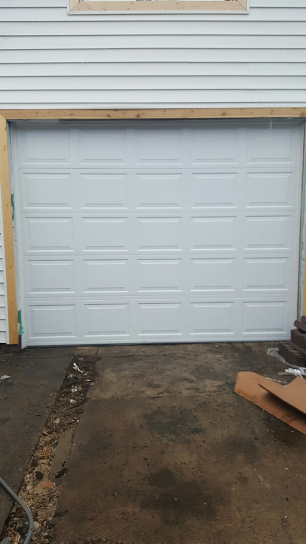 Saint Paul, MN - Rory installed a garage door opener and garage door in St. Paul, MN.