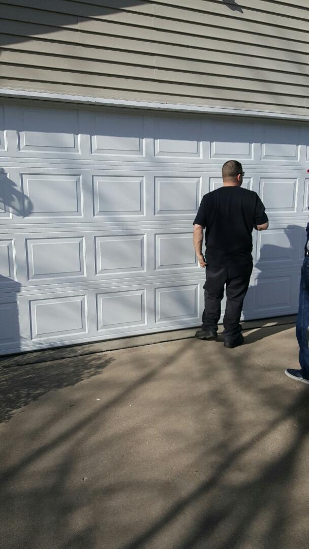 Oakdale, MN - Rory installed a garage door in Oakdale, MN.