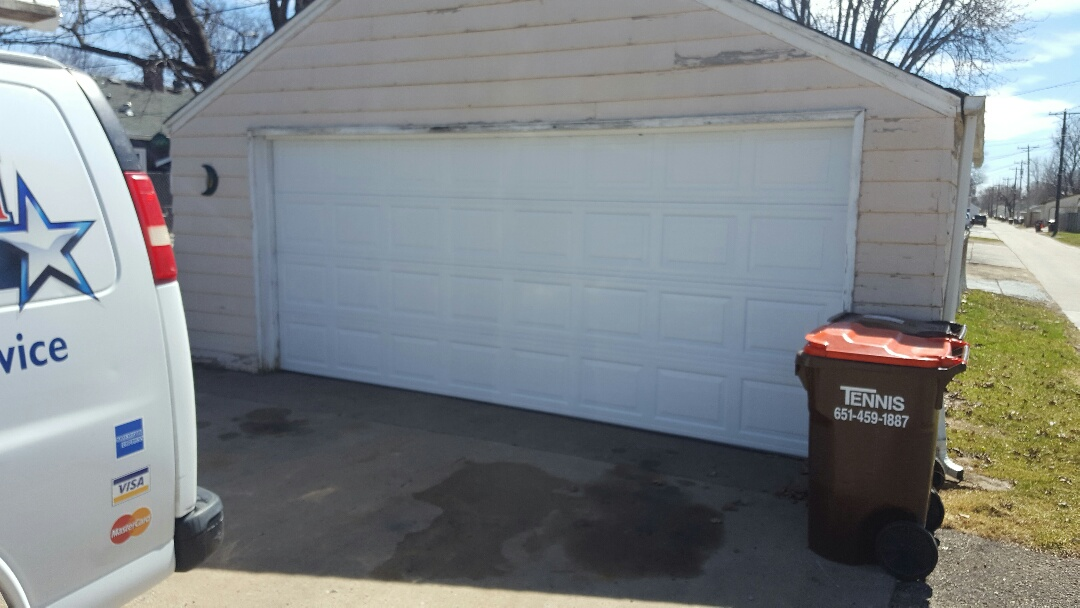 South Saint Paul, MN - Jeremy installed 16 by 7 garage door and opener