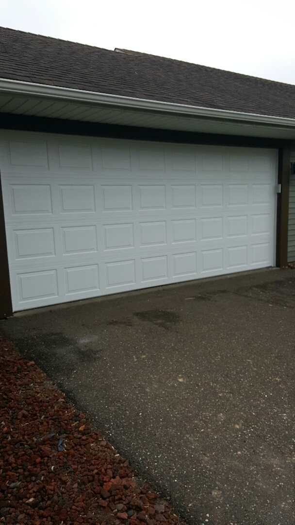 Mahtomedi, MN - Rory installed a garage door in Mahtomedi, MN.