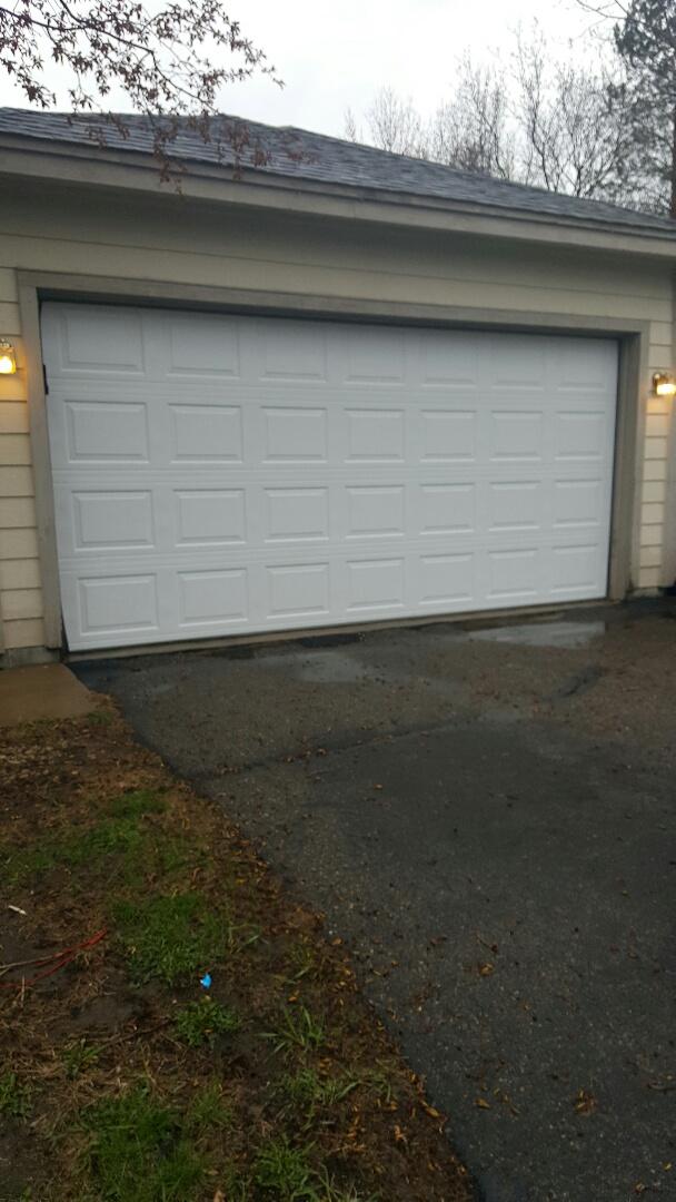 Burnsville, MN - Rory installed a garage door in Burnsville, MN