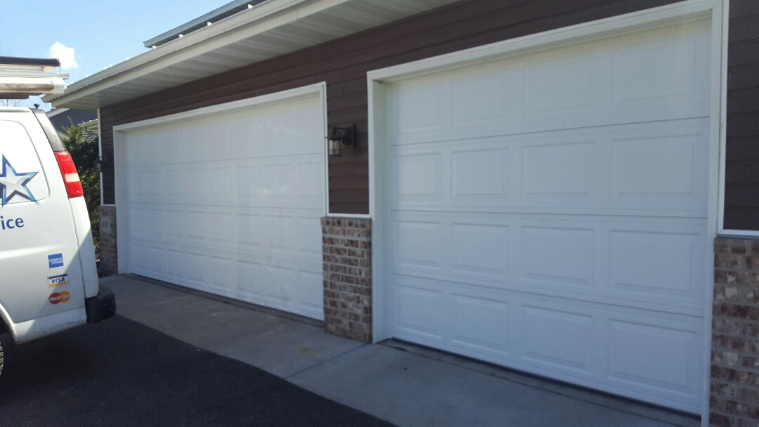Jeremy installed 16 by 7 and 8 by 7 garage doors