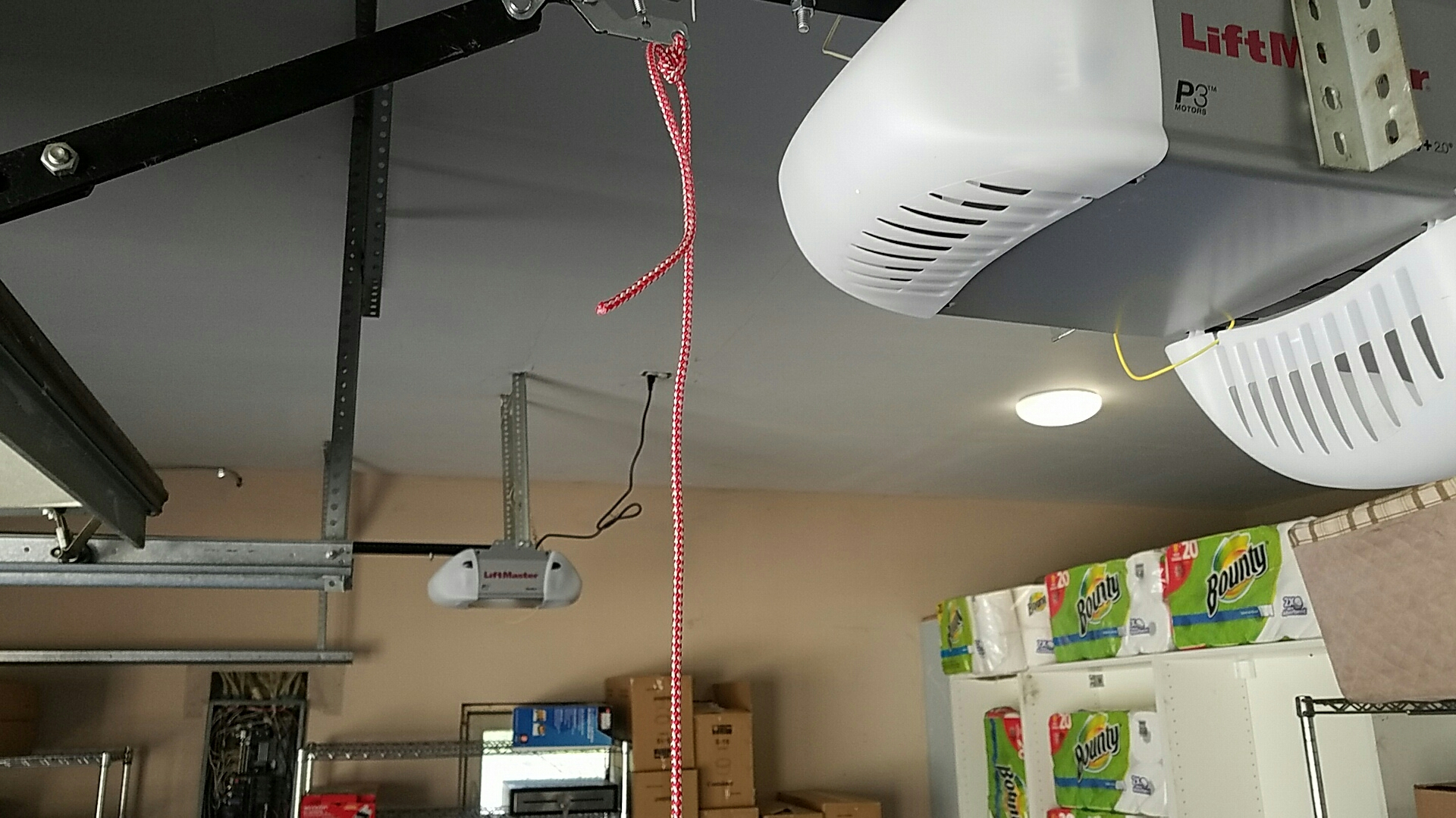 Fridley, MN - Replaced garage door opener with a new liftmaster