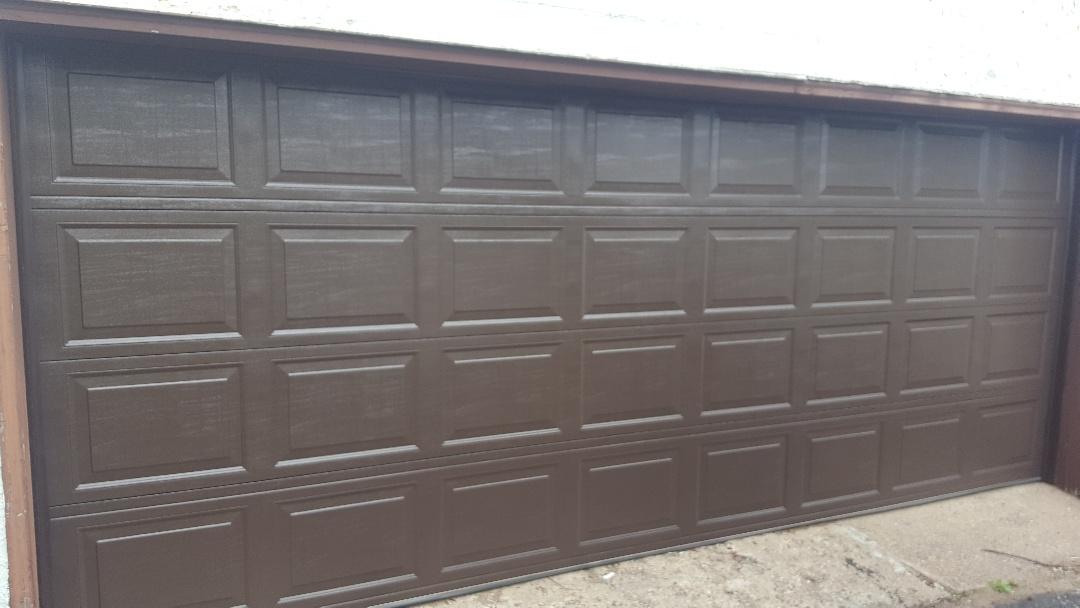 Brooklyn Center, MN - Jeremy installed new garage door