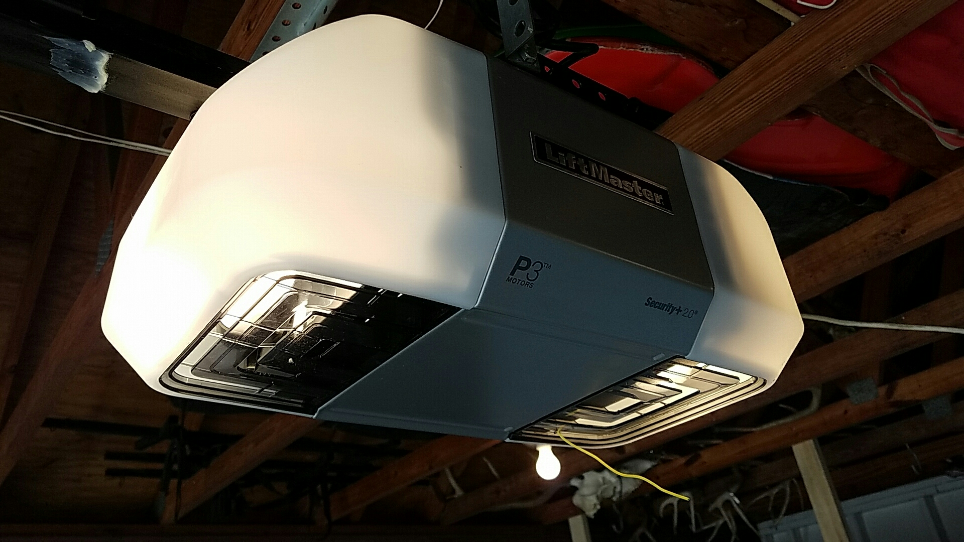 Replaced garage door opener with a new liftmaster