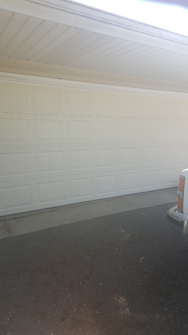 Oakdale, MN - Rory installed a garage door in White Bear Lake, MN
