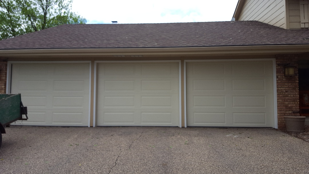 Plymouth, MN - Jeremy installed 3 new garage doors