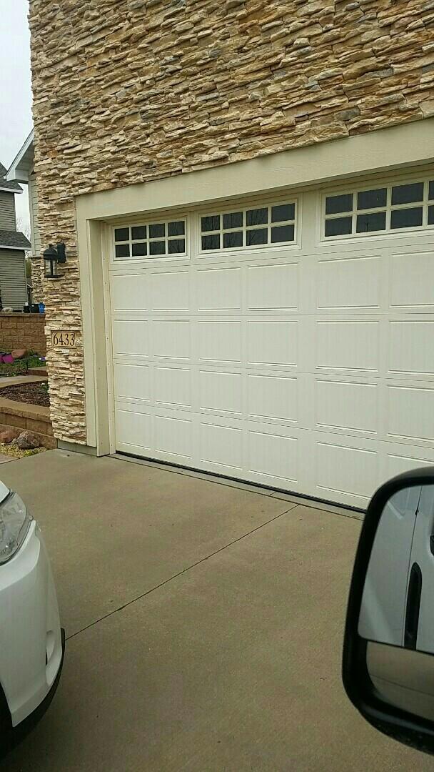 Shoreview, MN - Garage Door Repair Garage Door Service broken spring replacement Brooklyn Park Minnesota