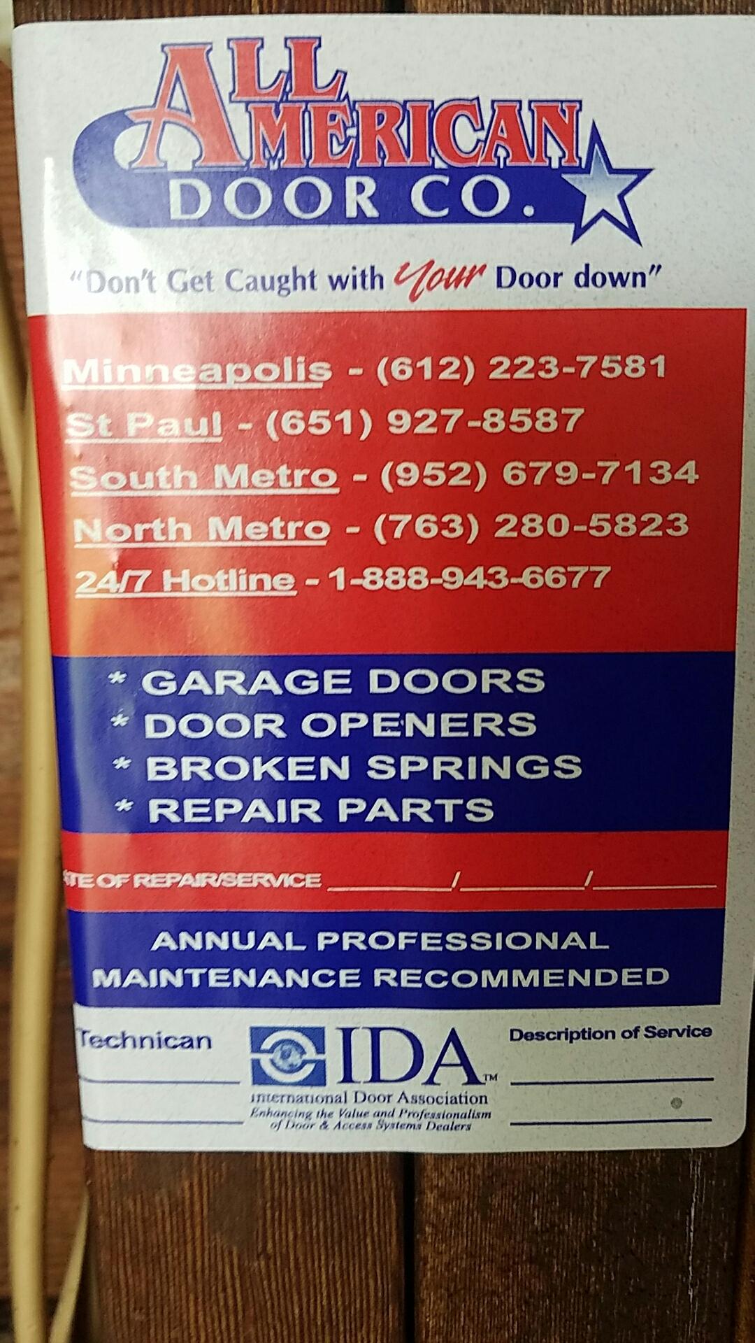 Hugo, MN - Replaced garage door opener with a new liftmaster