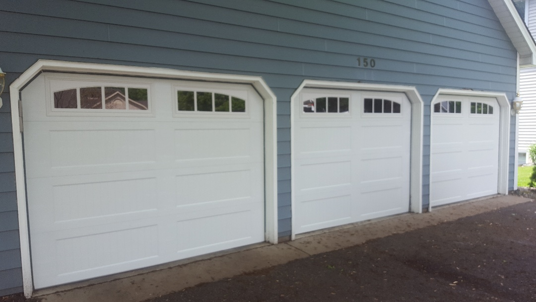 Jeremy installed 3 new garage doors and 3 new garage door openers