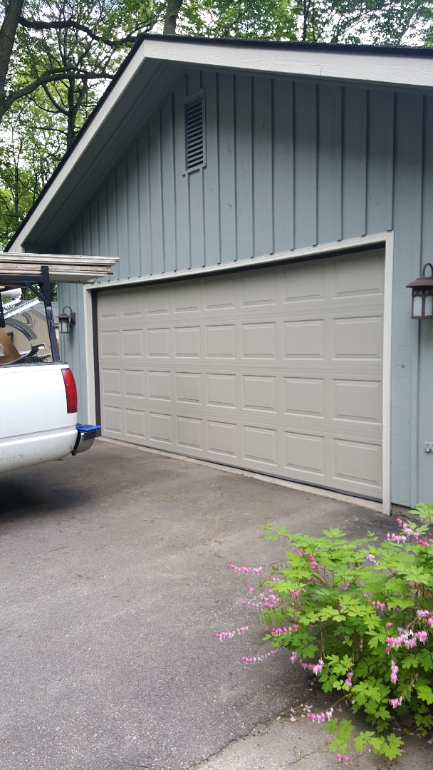 Forest Lake, MN - Rory installed a garage door in Forest Lake, MN.