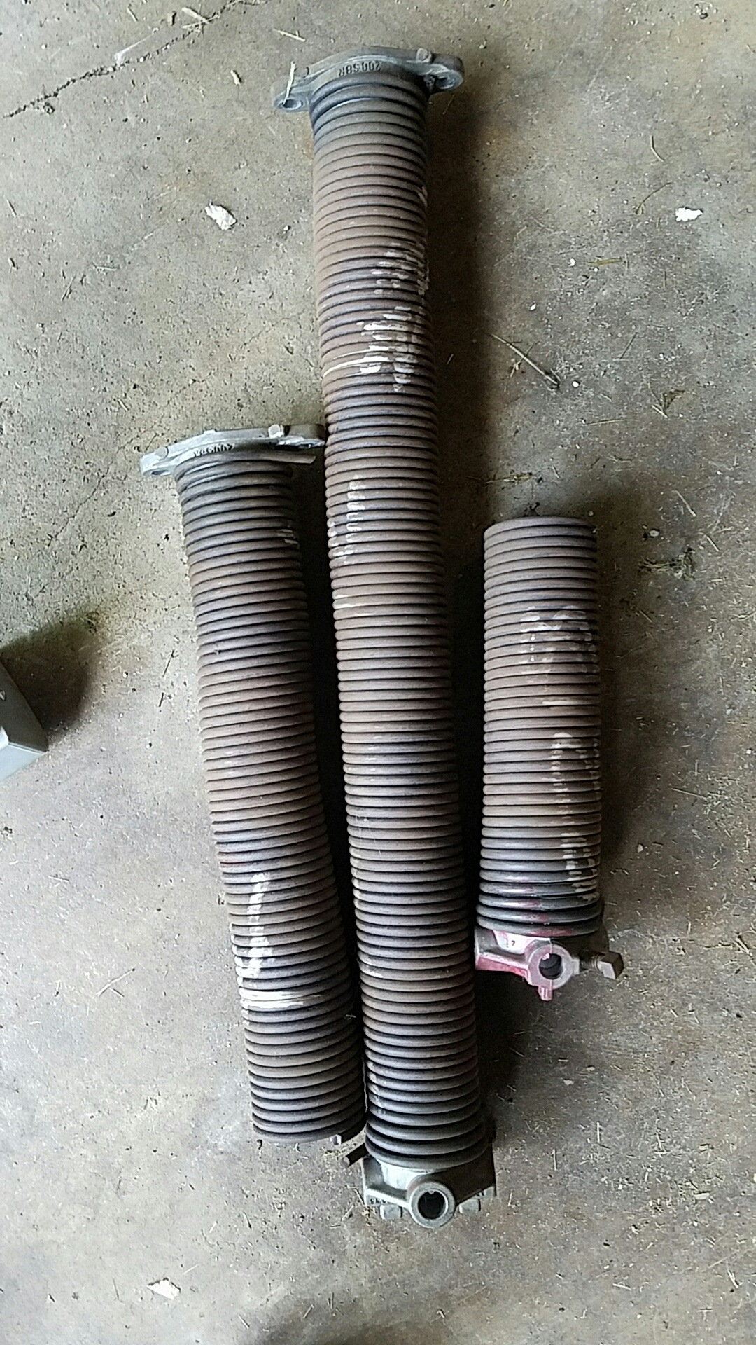 Replaced garage door Springs