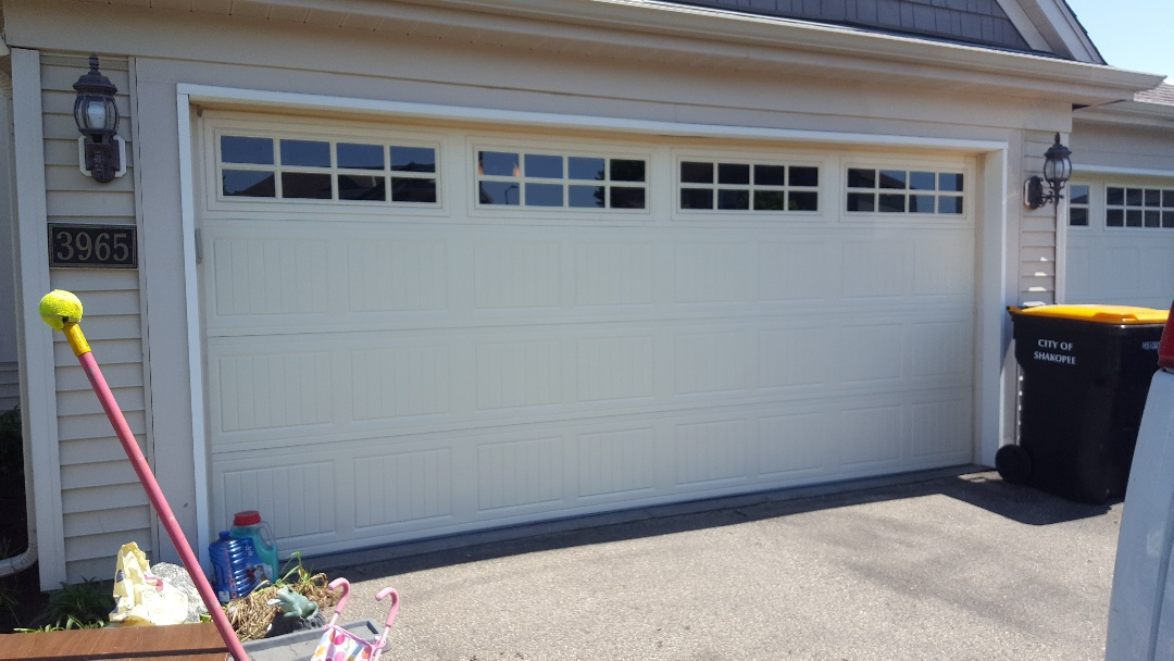 Jeremy installed new garage door