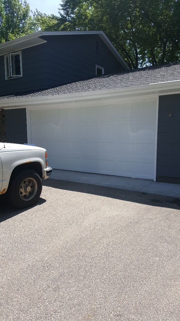 Rory installed a garage door in in Edina, MN.