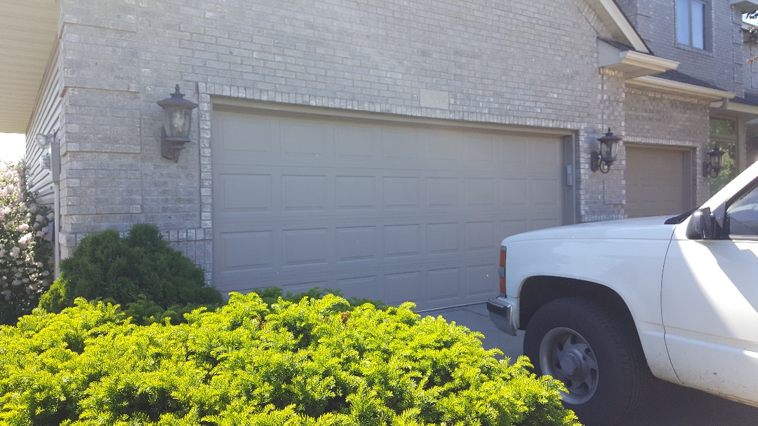 Andover, MN - Rory installed a garage door in Andover, MN.