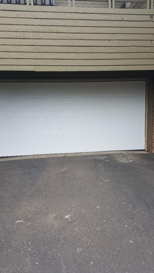New Brighton, MN - Rory installed a garage door in a New Brighton, mn