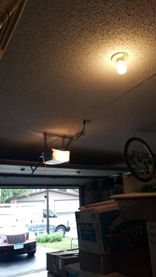 Eden Prairie, MN - Garage door service replaced garage door opener