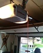 Wayzata, MN - Garage door service replace garage door opener with LiftMaster chain drive operator