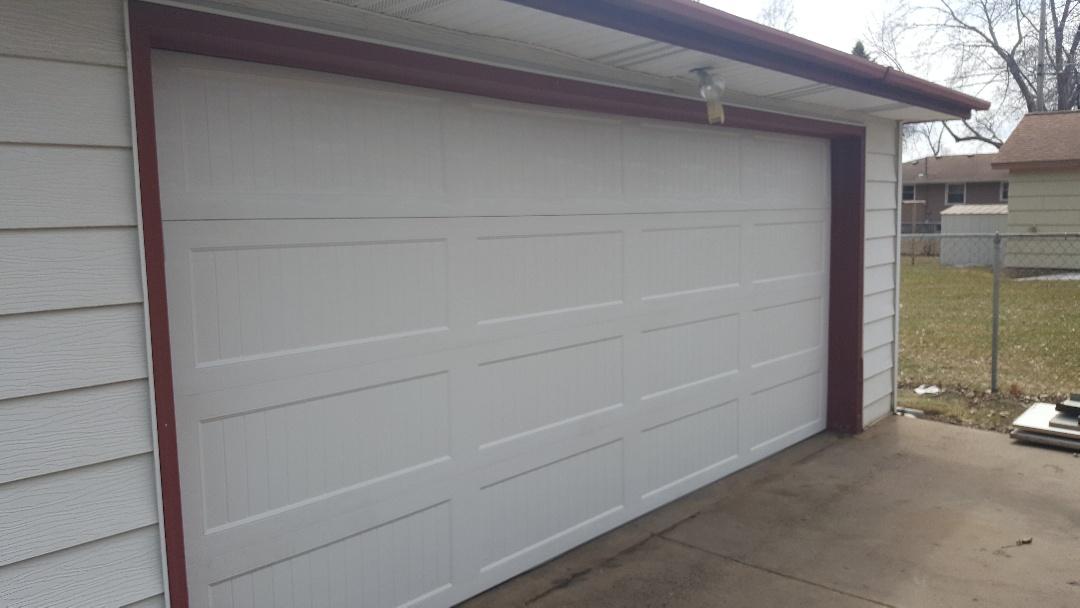Jeremy replaced garage door