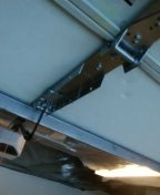 Garage door service replace opener bracket with MUTT