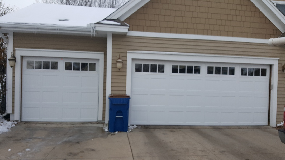 jeremy installed new garage doors and opener