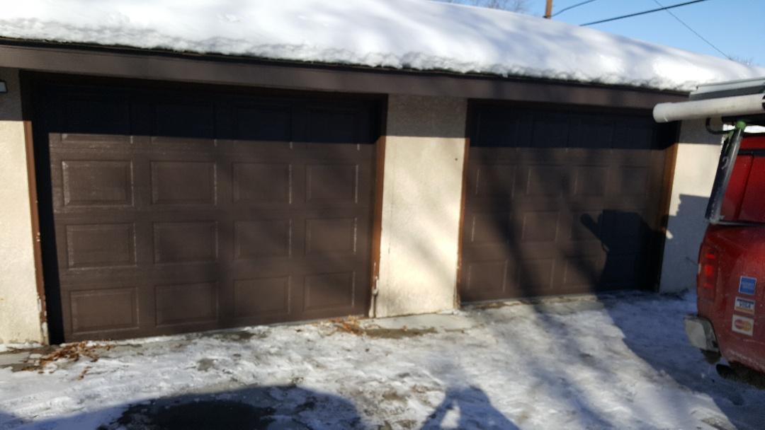 jeremy installed new garage doors