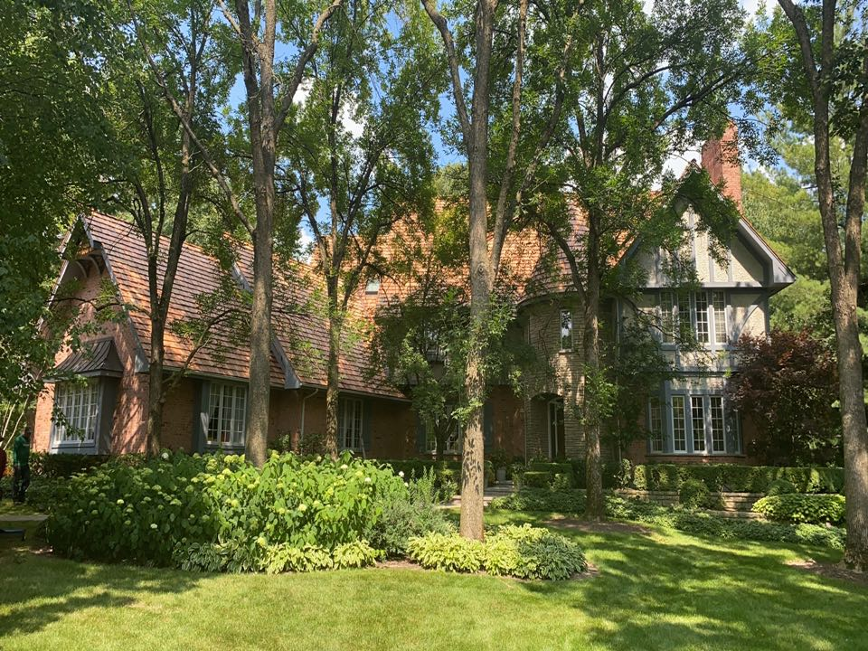 Lake Forest, IL - Just finishing putting heavy cedar shake on a beautiful home in Lake Forest