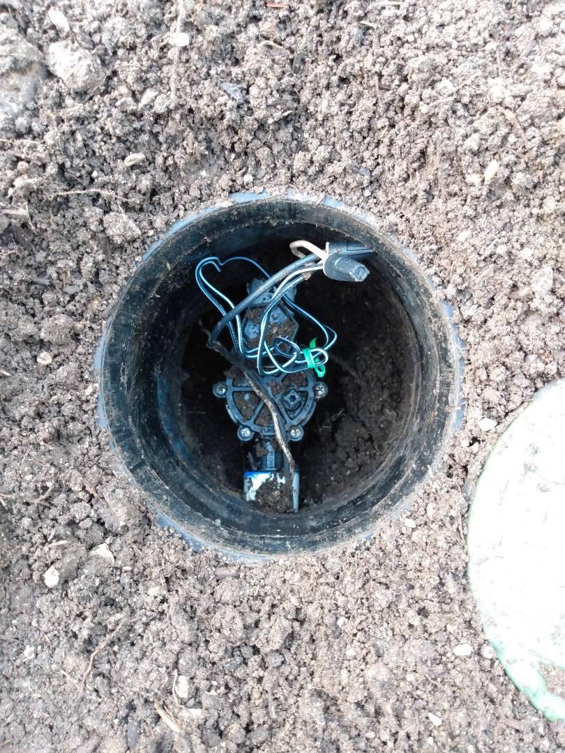 Replaced stuck valve with rainbird valve