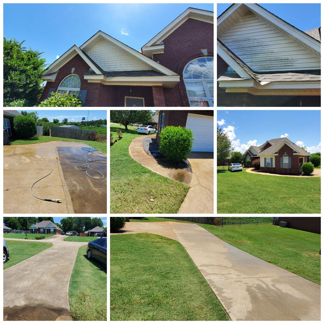 Prattville, AL - House wash, pressure washing,  driveway and walkway cleaning
