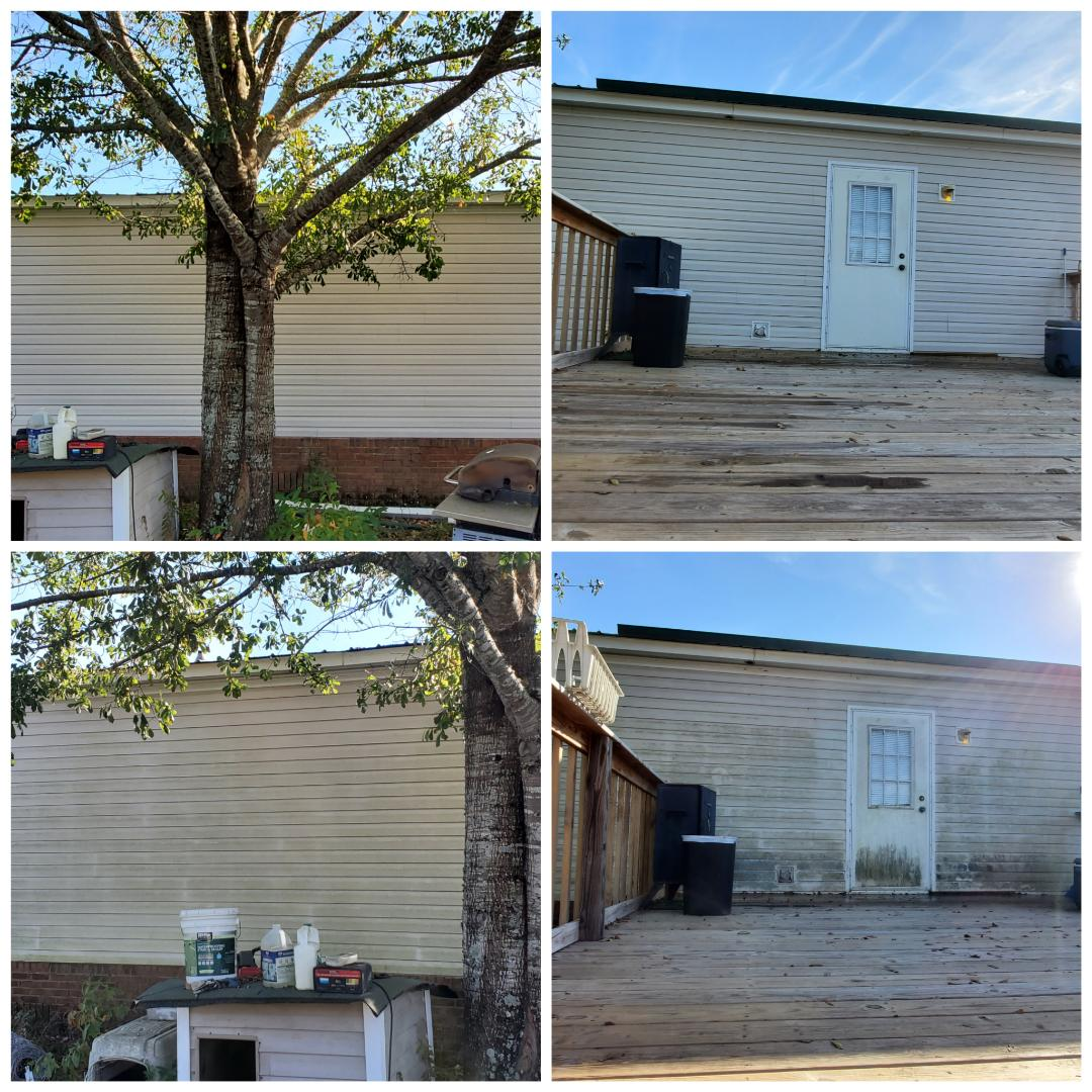 Prattville, AL - House wash pressure washing, mobile home wash, vinyl siding cleaning