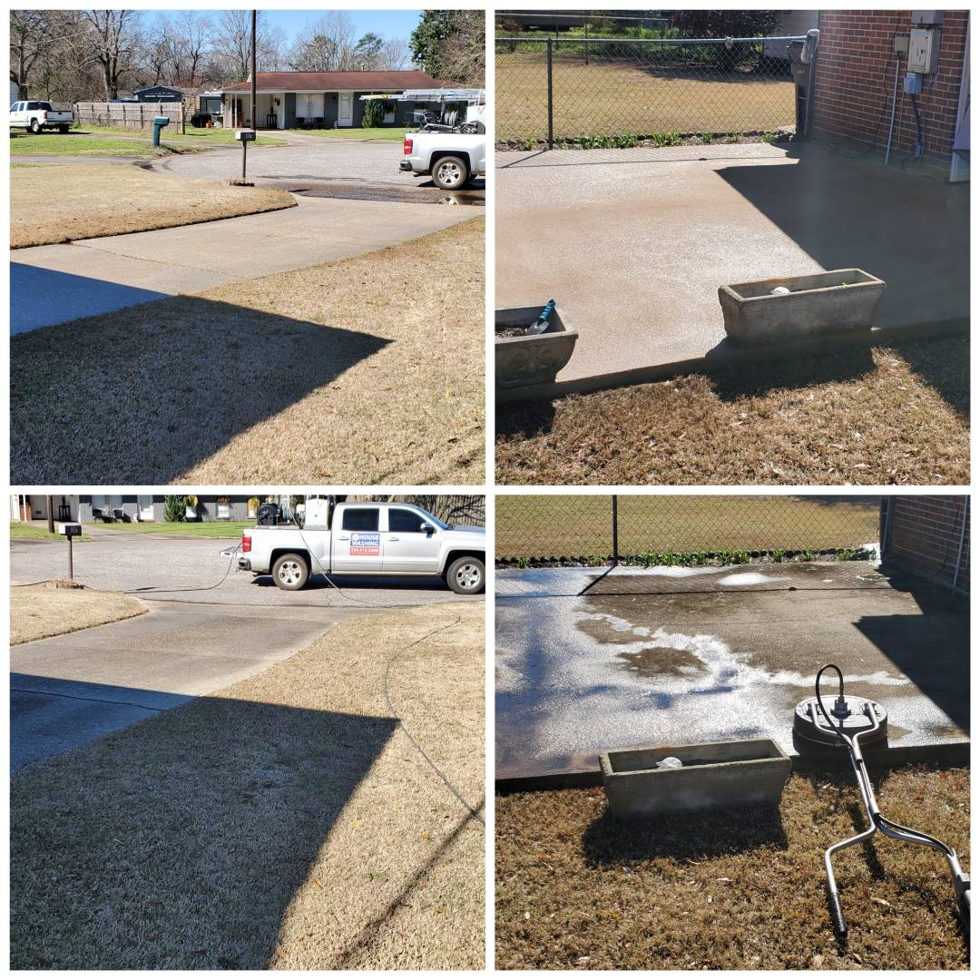 Wetumpka, AL - Driveway cleaning and patio cleaning