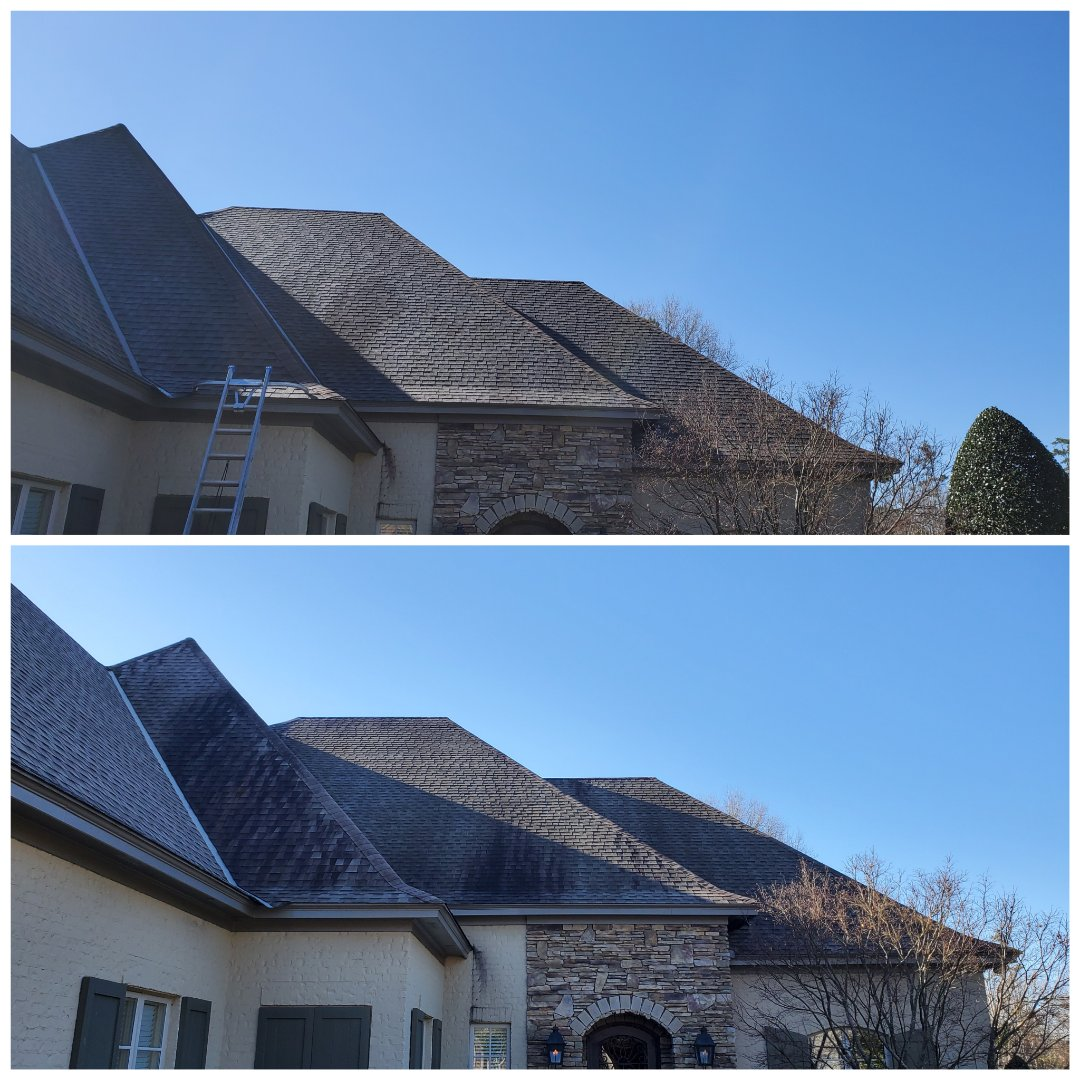Montgomery, AL - Just did a roof wash bouviere. Montgomery pressure washing,