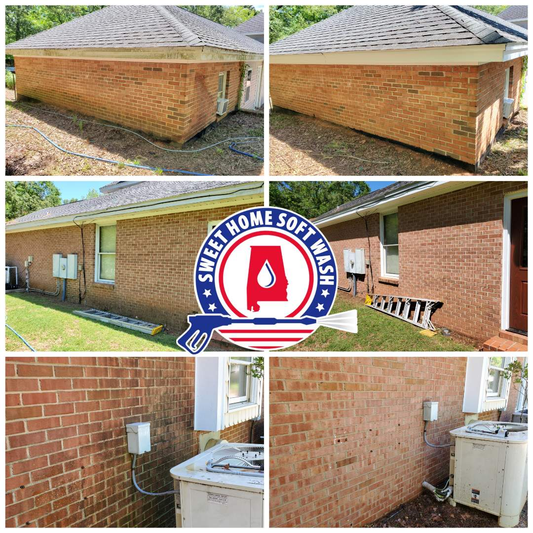 House wash. Brick pressure washing, vinyl pressure washing. Pressure washing prattville