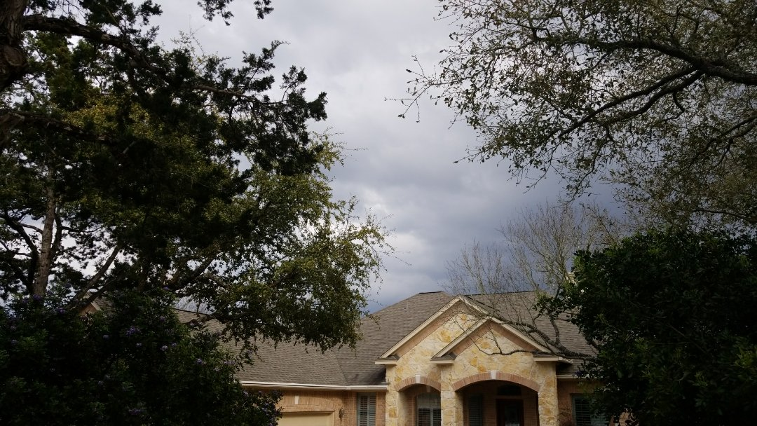 Garden Ridge, TX - Shingle roof repair for blown off ridge. This is the importance of installing the proper ridge.