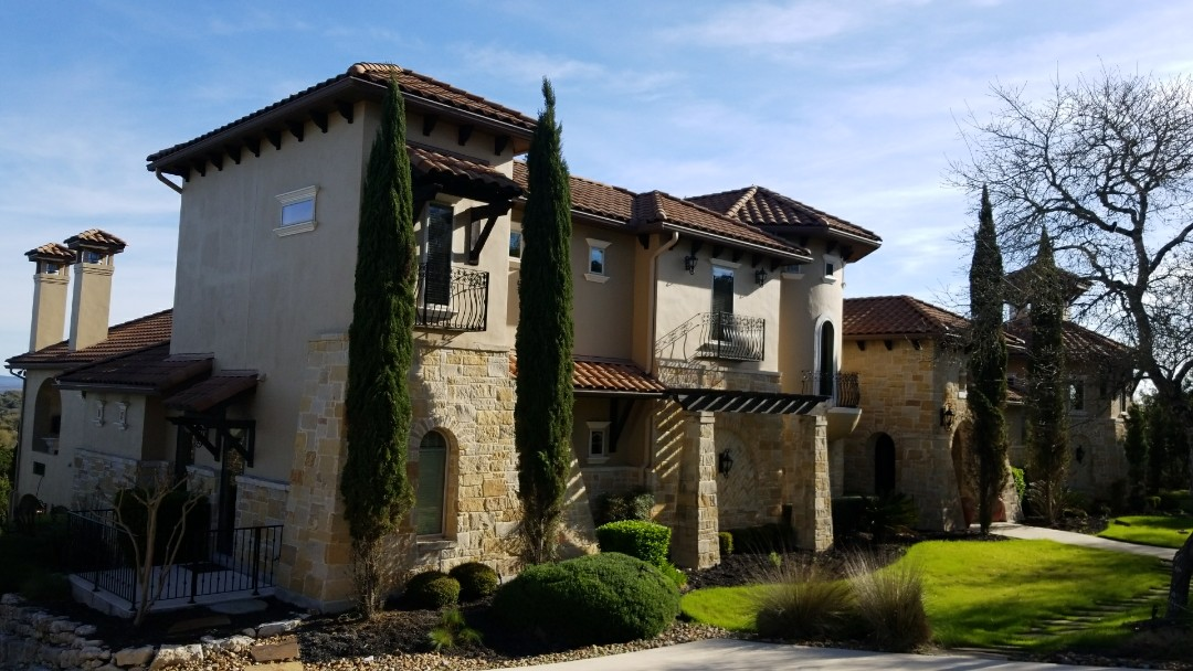 Boerne, TX - Tile roof and sheetrock repair