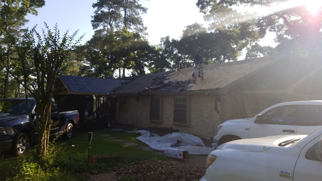 Magnolia, TX - Reroof with 25yr workmanship Golden Pledge Warranty backed by GAF!